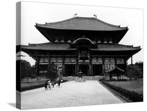 The Main Building of Todaiji Monastery--Stretched Canvas Print