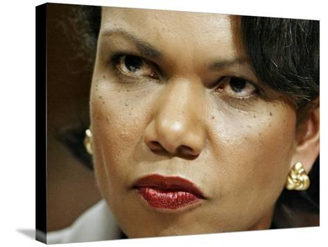 National Security Adviser Condoleezza Rice Testifies--Stretched Canvas Print