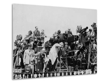 Press and Newsreel Long-Focus Cameras are Trained on the Royal Box at Ascot--Metal Print