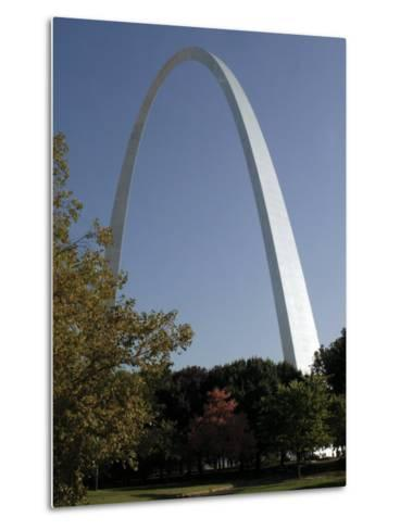 The Gateway Arch Rises High Above the Grounds of the Jefferson National Expansion Memorial--Metal Print