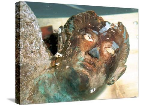 The Greek Bronze Statue of Aeolus--Stretched Canvas Print