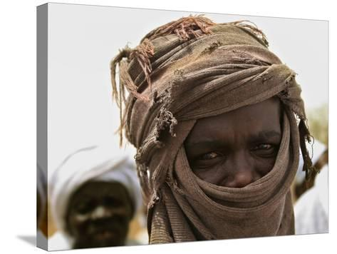 A Sudan Liberation Army, Sla, Fighter from the Faction of Abdelwahid Elnur--Stretched Canvas Print