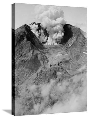 The North Side of Mount St. Helens is Wide Open as the Volcano Starts to Erupt--Stretched Canvas Print