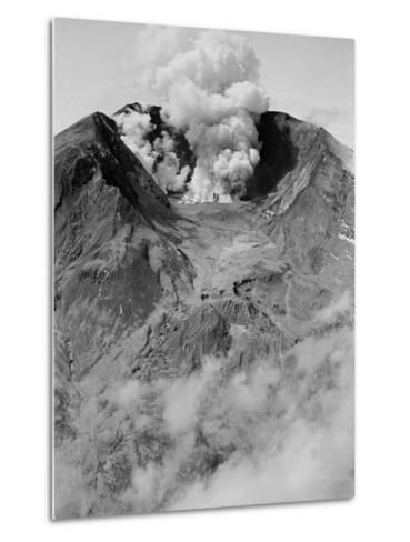 The North Side of Mount St. Helens is Wide Open as the Volcano Starts to Erupt--Metal Print