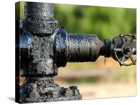 A Control Valve of an Oil Pump--Stretched Canvas Print