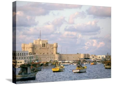 15th Century Castle, Fort Qait Bay, Alexandria, Egypt-Nik Wheeler-Stretched Canvas Print