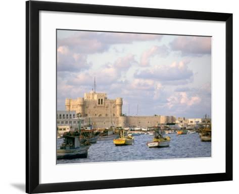 15th Century Castle, Fort Qait Bay, Alexandria, Egypt-Nik Wheeler-Framed Art Print