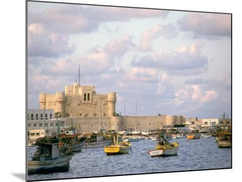 15th Century Castle, Fort Qait Bay, Alexandria, Egypt-Nik Wheeler-Mounted Photographic Print