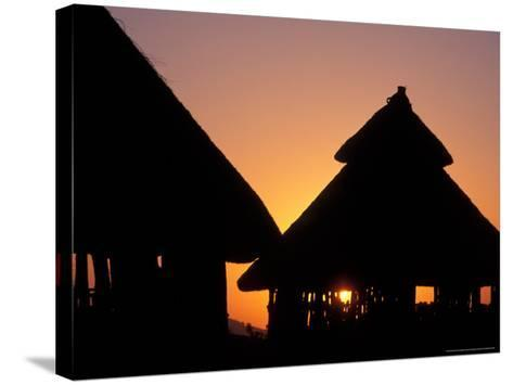 Sunset on Traditional Konso Huts, Omo River Region, Ethiopia-Janis Miglavs-Stretched Canvas Print