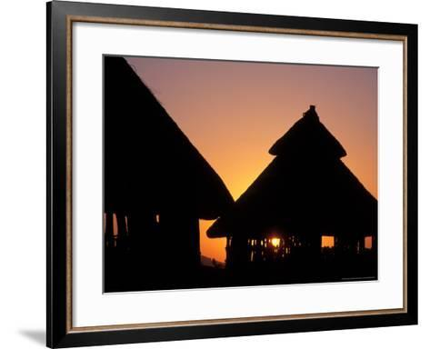 Sunset on Traditional Konso Huts, Omo River Region, Ethiopia-Janis Miglavs-Framed Art Print