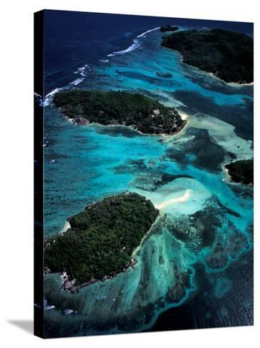 Aerial View of Ste Anne Marine National Park, Seychelles-Nik Wheeler-Stretched Canvas Print