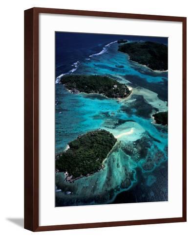 Aerial View of Ste Anne Marine National Park, Seychelles-Nik Wheeler-Framed Art Print