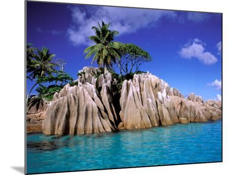 Granite Outcrops, La Digue Island, Seychelles, Africa-Pete Oxford-Mounted Photographic Print