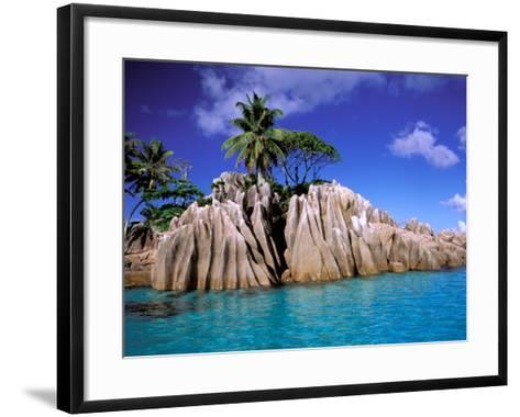 Granite Outcrops, La Digue Island, Seychelles, Africa-Pete Oxford-Framed Art Print