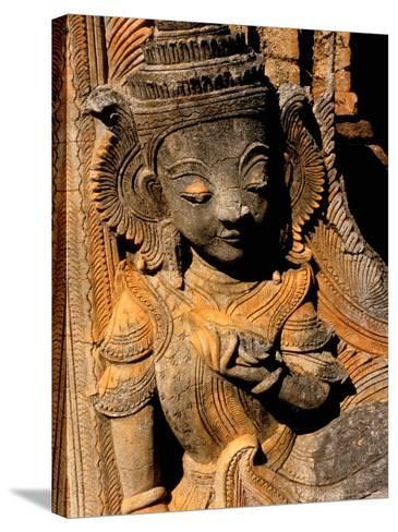 Stupa Details, Shwe Inn Thein, Indein, Inle Lake, Shan State, Bagan, Myanmar-Inger Hogstrom-Stretched Canvas Print