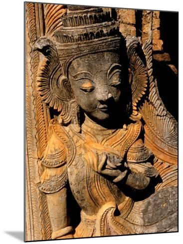 Stupa Details, Shwe Inn Thein, Indein, Inle Lake, Shan State, Bagan, Myanmar-Inger Hogstrom-Mounted Photographic Print