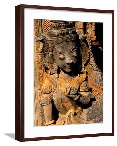 Stupa Details, Shwe Inn Thein, Indein, Inle Lake, Shan State, Bagan, Myanmar-Inger Hogstrom-Framed Art Print