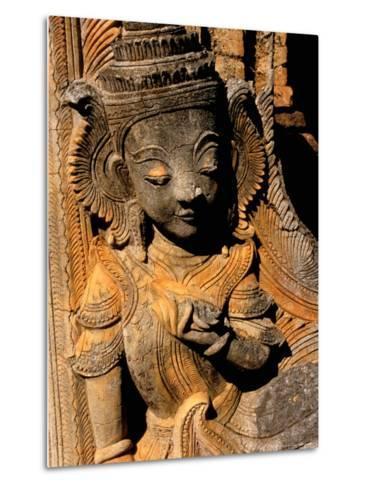 Stupa Details, Shwe Inn Thein, Indein, Inle Lake, Shan State, Bagan, Myanmar-Inger Hogstrom-Metal Print