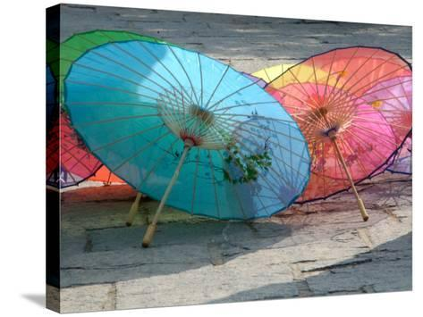 Umbrellas For Sale, China-Bruce Behnke-Stretched Canvas Print