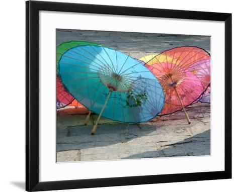 Umbrellas For Sale, China-Bruce Behnke-Framed Art Print