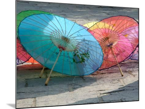 Umbrellas For Sale, China-Bruce Behnke-Mounted Photographic Print