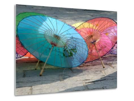 Umbrellas For Sale, China-Bruce Behnke-Metal Print
