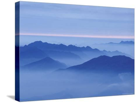 Mountain in Mist at Sunrise, Mt. Huangshan (Yellow Mountain), China-Keren Su-Stretched Canvas Print