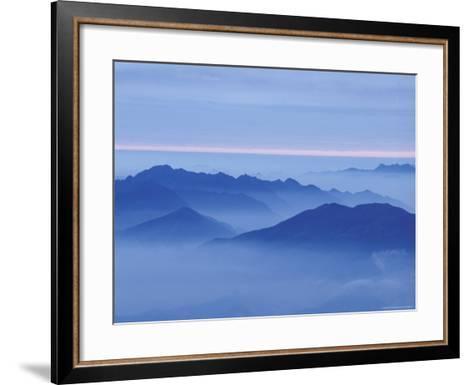 Mountain in Mist at Sunrise, Mt. Huangshan (Yellow Mountain), China-Keren Su-Framed Art Print