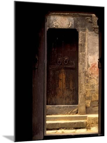 Ancient Gate in Huizhou-styled House, China-Keren Su-Mounted Photographic Print