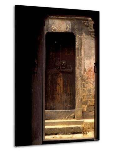 Ancient Gate in Huizhou-styled House, China-Keren Su-Metal Print