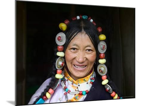 Tibetan Woman, Tibet, China-Keren Su-Mounted Photographic Print