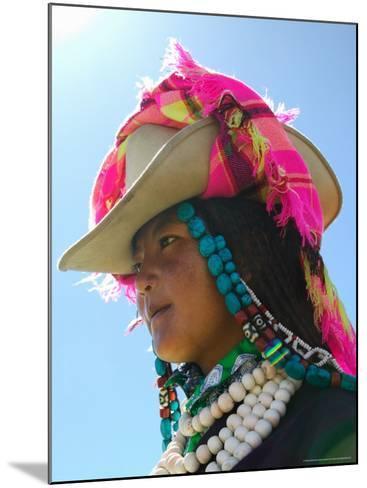 Tibetan Girl, Tibet, China-Keren Su-Mounted Photographic Print