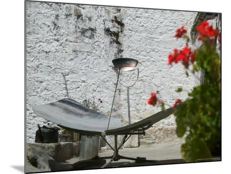 Using Solar Panel to Cook, Sera Temple, Lhasa, Tibet, China-Keren Su-Mounted Photographic Print