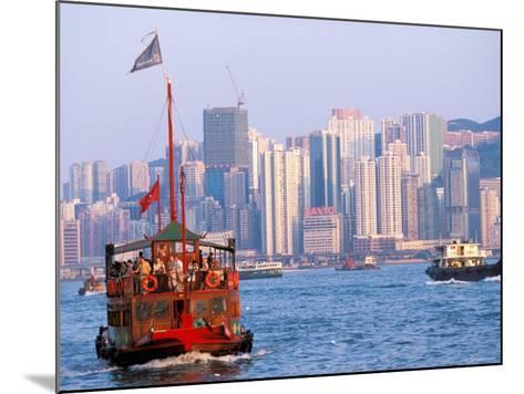 Tourist Boat in Hong Kong Harbor, Hong Kong, China-Paul Souders-Mounted Photographic Print