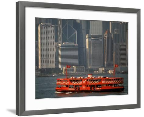 Star Ferry in Hong Kong Harbor, Hong Kong, China-Walter Bibikow-Framed Art Print