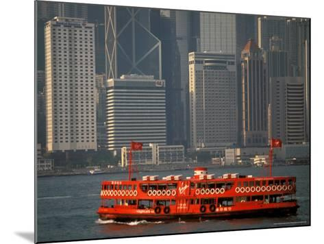 Star Ferry in Hong Kong Harbor, Hong Kong, China-Walter Bibikow-Mounted Photographic Print