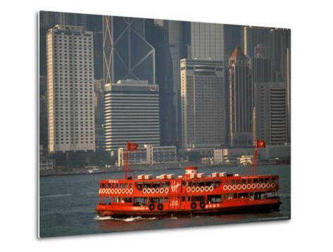 Star Ferry in Hong Kong Harbor, Hong Kong, China-Walter Bibikow-Metal Print