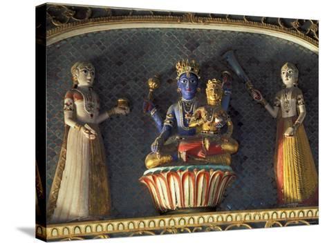 Hindu gods Vishnu and Laxmi in Half Moon Palace, India-John & Lisa Merrill-Stretched Canvas Print