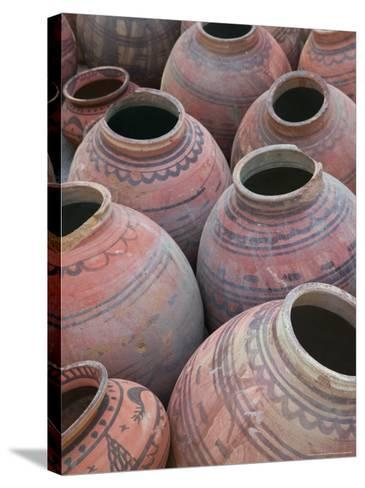 Pottery, Meherangarh Fort, Rajasthan, India-Walter Bibikow-Stretched Canvas Print