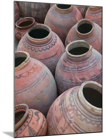 Pottery, Meherangarh Fort, Rajasthan, India-Walter Bibikow-Mounted Photographic Print
