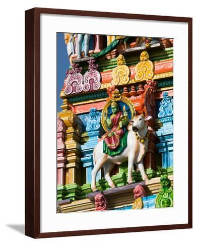 Detail of Dravidian-style Kapaleeshwarar Temple, India-Walter Bibikow-Framed Art Print
