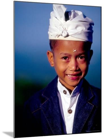 Boy in Formal Dress at Hindu Temple Ceremony, Indonesia-John & Lisa Merrill-Mounted Photographic Print