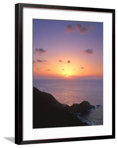 Yakushima Sunset, Kagoshima, Japan-Rob Tilley-Framed Art Print