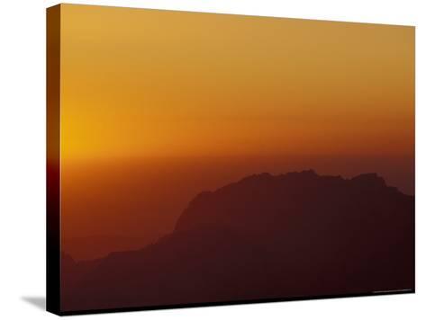 Sunset on Petra Valley, Jordan-Michele Molinari-Stretched Canvas Print