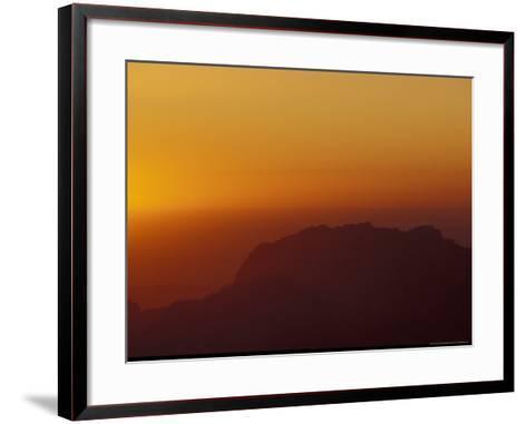 Sunset on Petra Valley, Jordan-Michele Molinari-Framed Art Print