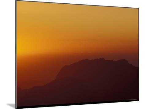 Sunset on Petra Valley, Jordan-Michele Molinari-Mounted Photographic Print