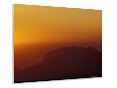Sunset on Petra Valley, Jordan-Michele Molinari-Metal Print