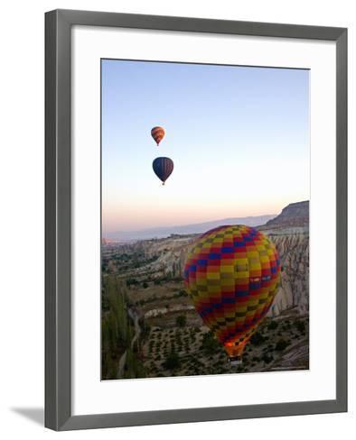Balloon Ride over Cappadocia, Turkey-Joe Restuccia III-Framed Art Print