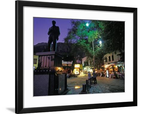 Village of Kas at Night, Turquoise Coast, Turkey-Nik Wheeler-Framed Art Print