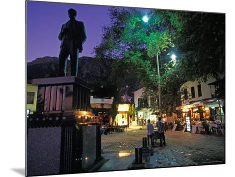 Village of Kas at Night, Turquoise Coast, Turkey-Nik Wheeler-Mounted Photographic Print